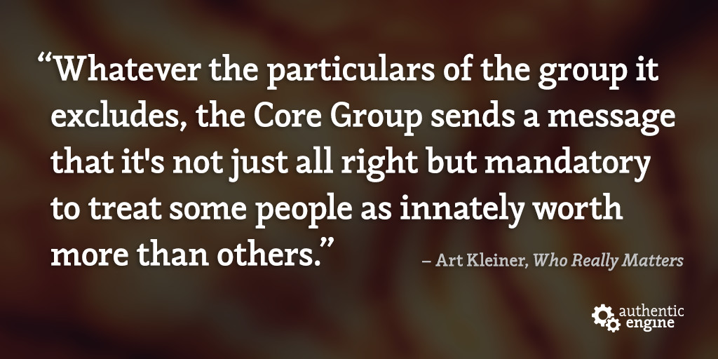 Who Really Matters: Core Group Theory & Diversity