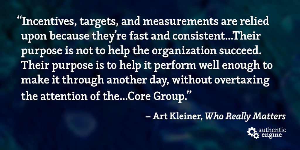 Who Really Matters: Core Group Theory & Incentives, Targets, and Measurements